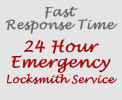 Fast  Response Time, 24 Hour Emergency Locksmith Service